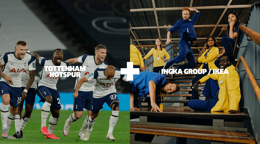 Tottenham Hotspur football team and Ikea team