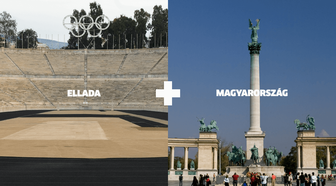 Landmarks in Greece and Hungary