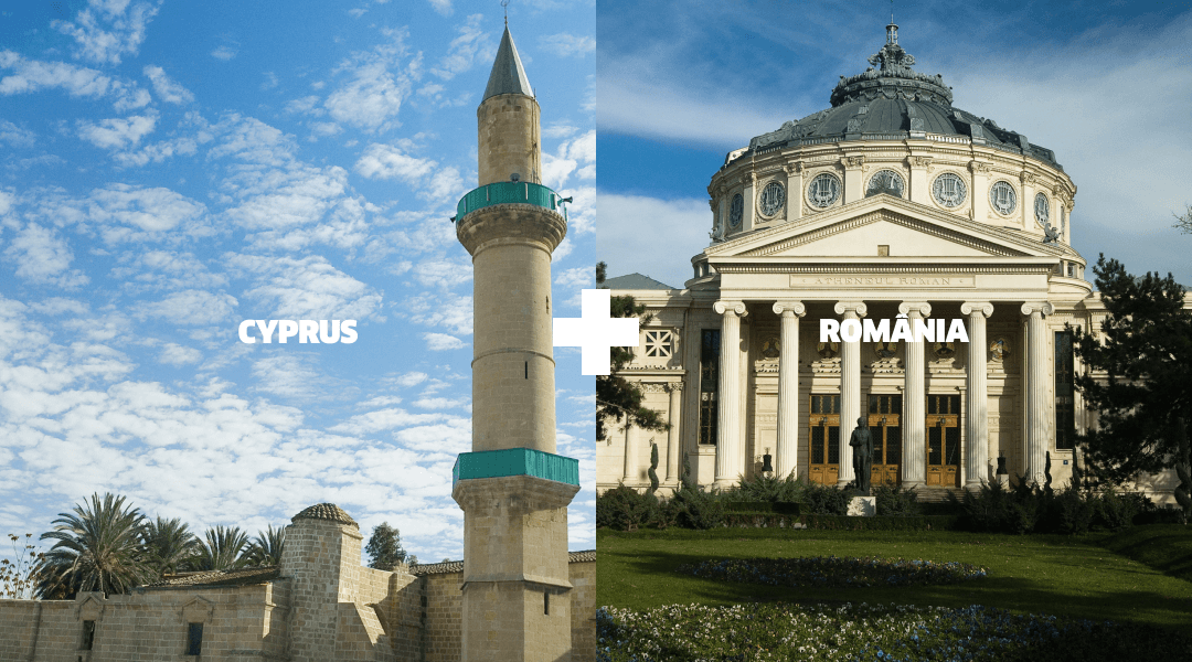 Landmarks in Cyprus and Romania