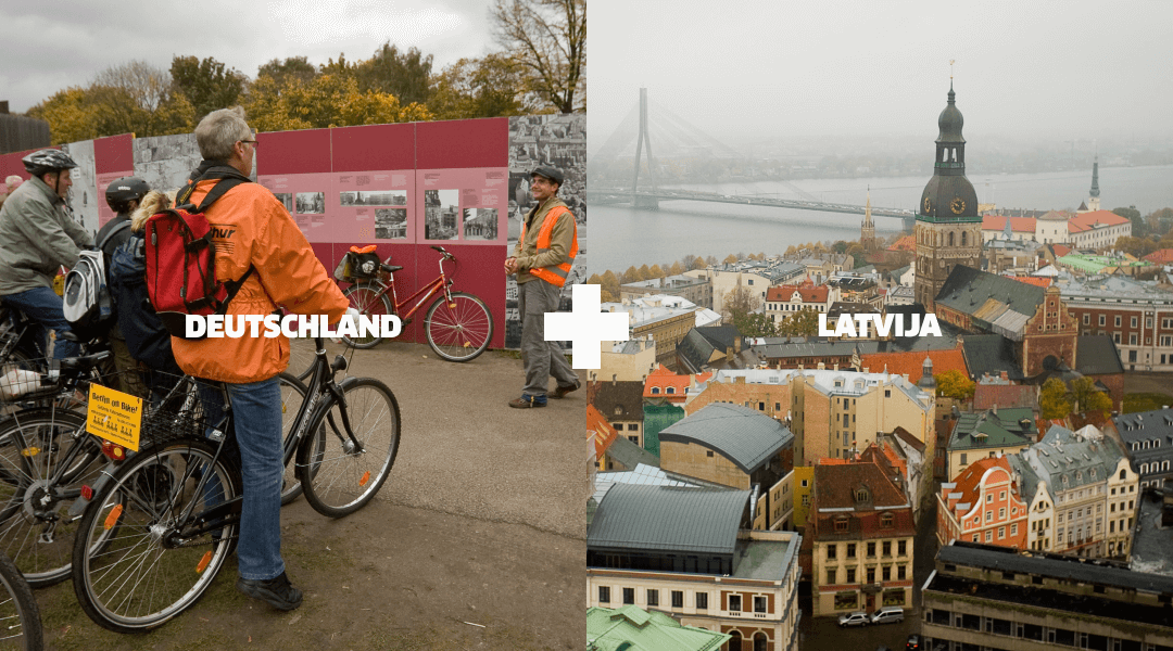 Landmarks in Germany and Latvia