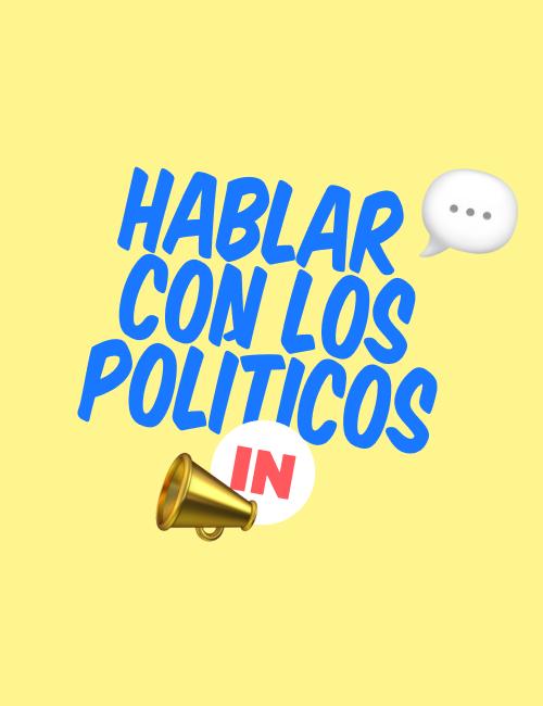 Hablar con los políticos