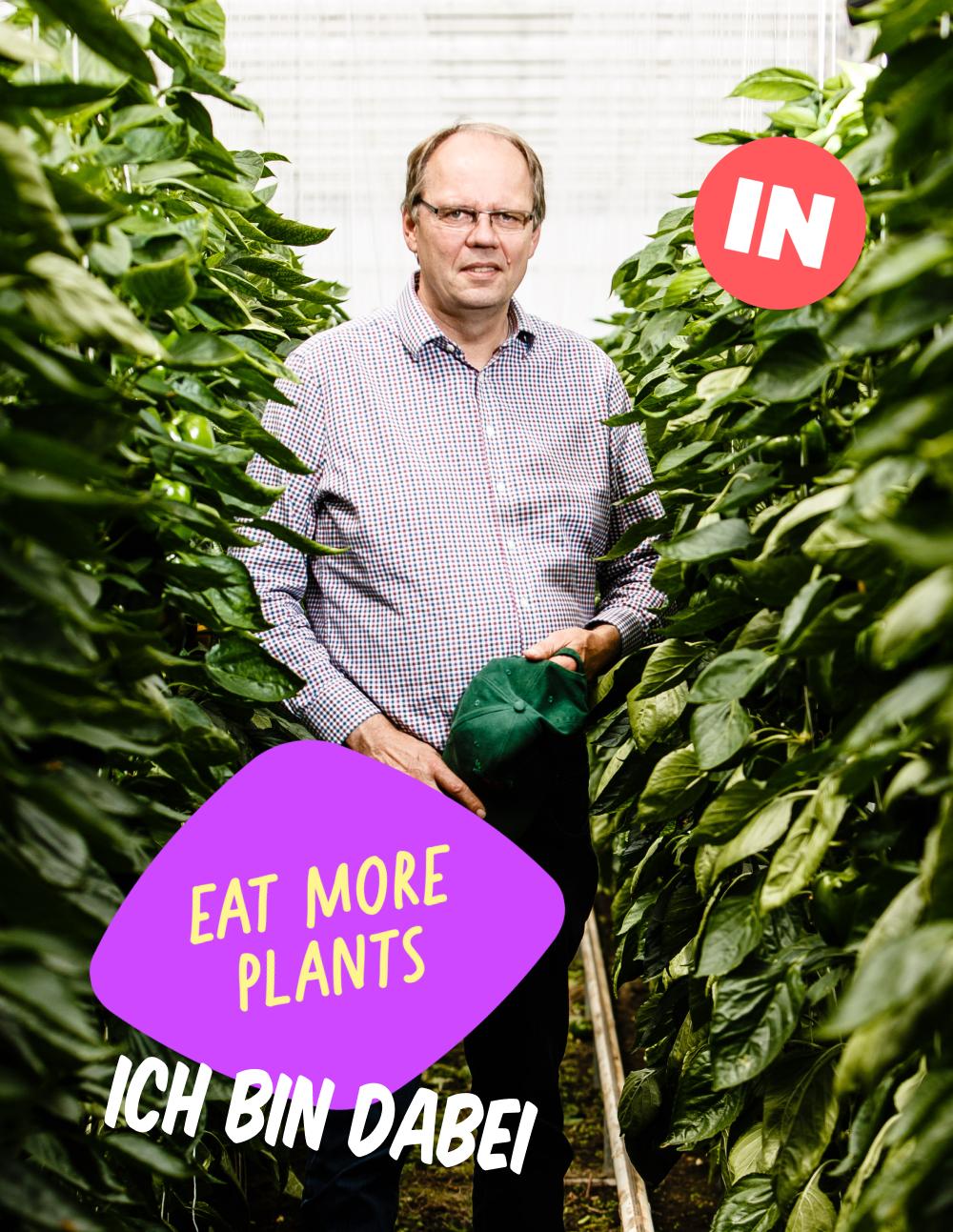 Man in Germany growing plants