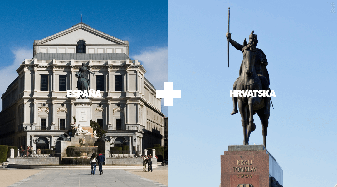 Landmarks in Spain and Croatia