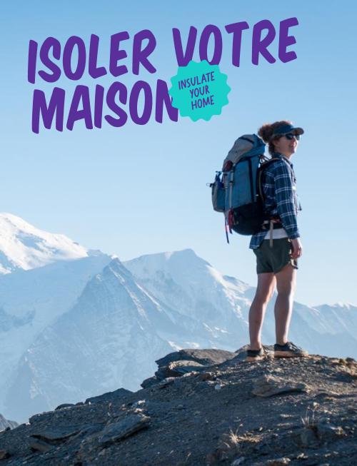 Woman on a mountaintop, Isoler votre maison