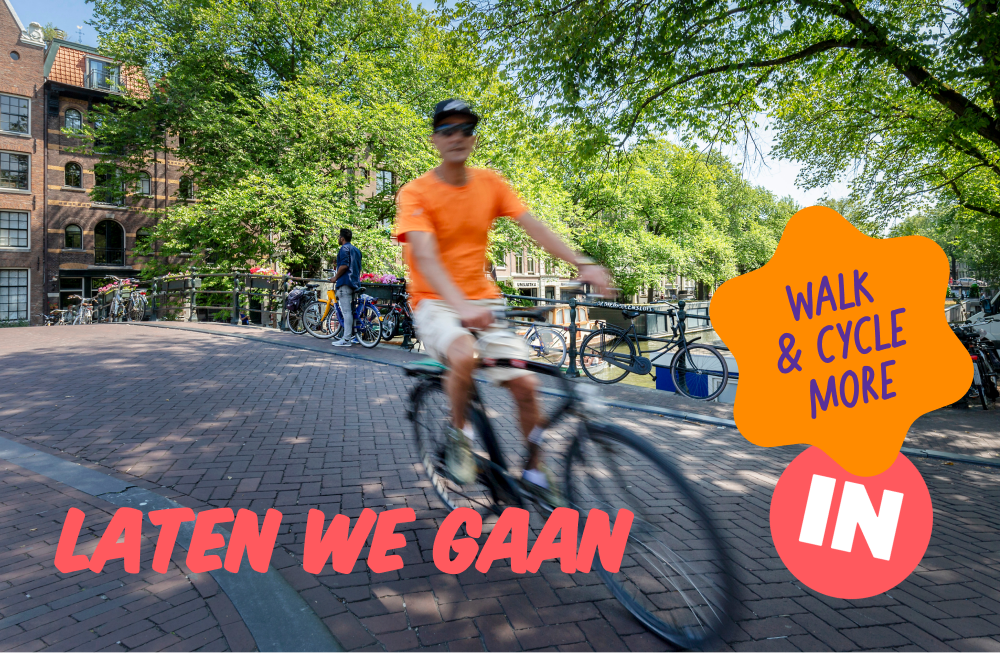 Man riding a bike in the Netherlands