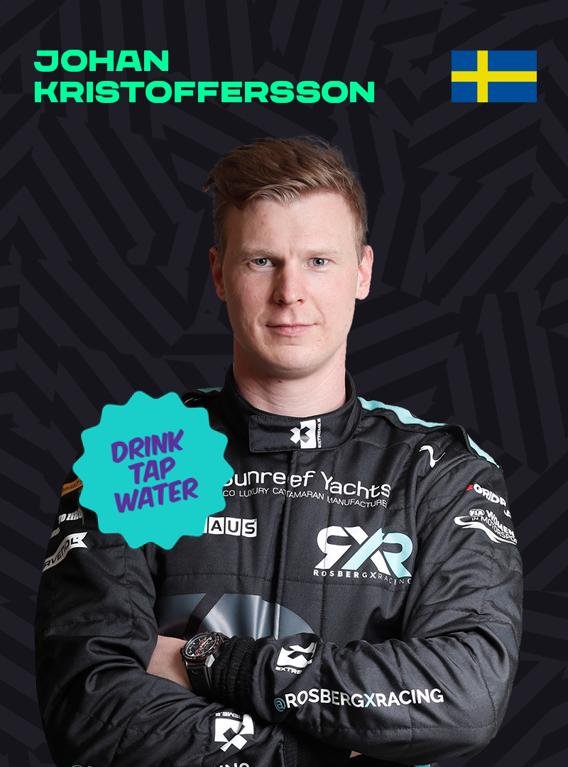 Johan Kristoffersson with Walk & Cycle More sticker