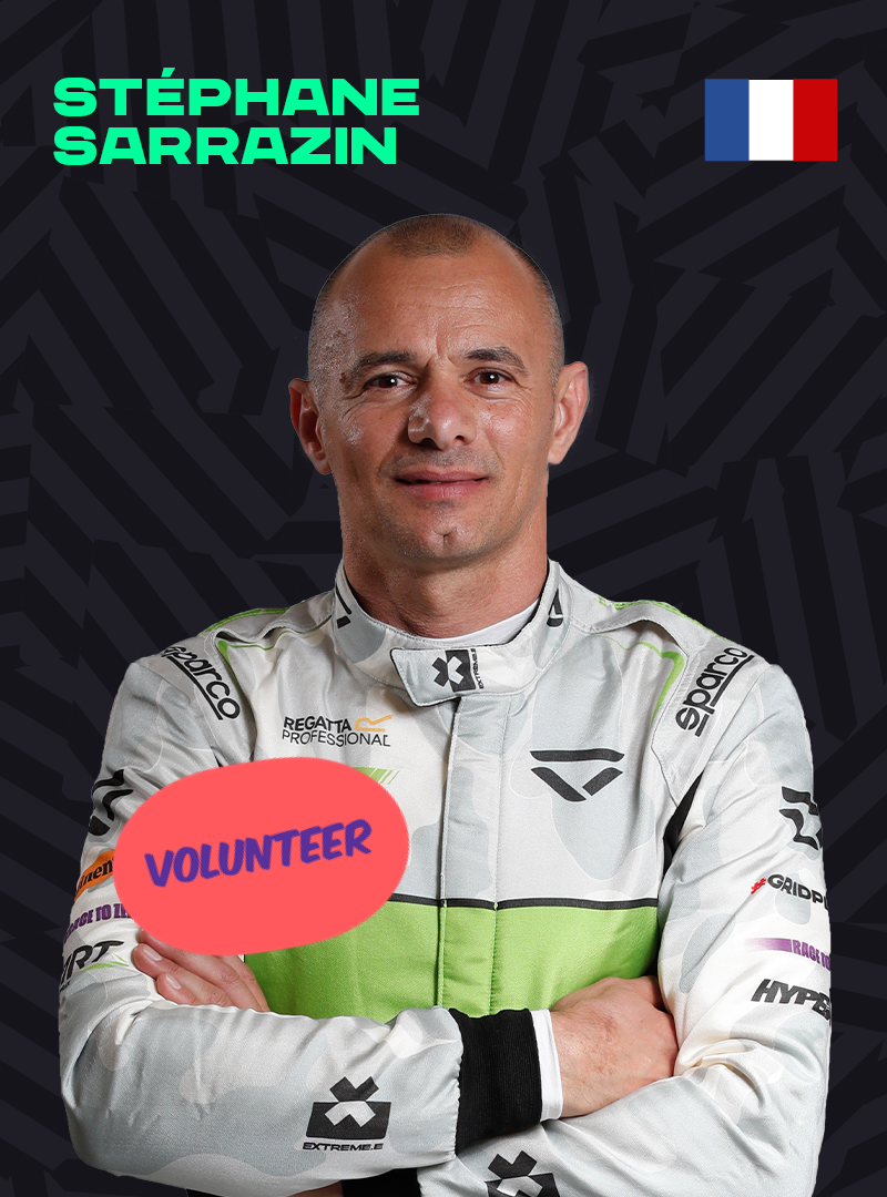 Stephane Sarrazin with a Eat Sustainable Fish sticker